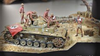 "getlinkyoutube.com-Panzer III E ""Tank Wash"" N.Africa Diorama Build"