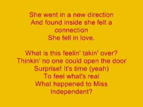 Kelly Clarkson Miss Independent Lyrics