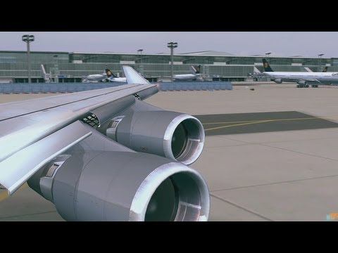 Flight Simulator X [HD] Frankfurt am Main / DX10 / Boeing 747-400 Lufthansa Airlines Take off