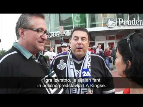 Anze Kopitar on 24UR-POP TV (Daily Sport News) after 1st Game:Kings-Devils