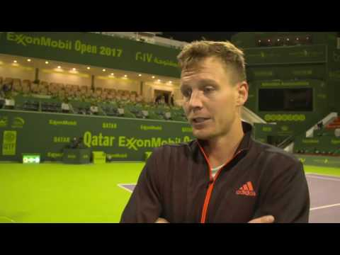 Berdych Talks About Adjusting To Wind In Doha