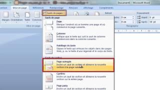 getlinkyoutube.com-طريقة بدء الترقيم من صفحة معينة في  office word 2007