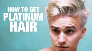 getlinkyoutube.com-How To: Platinum blonde Hair for Men | Step by Step Tutorial - by Dre Drexler.