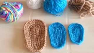 getlinkyoutube.com-consejos para tejer suelas o plantillas a crochet