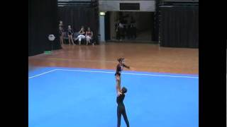 getlinkyoutube.com-2009 Level 5 Mixed Pair - Acro Gymnastics