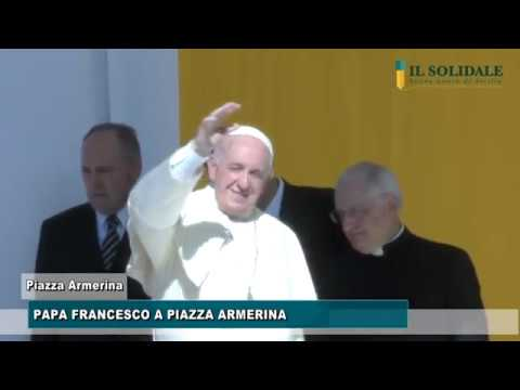 Video: Papa Francesco a Piazza Armerina
