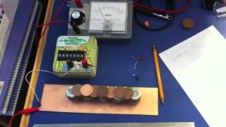 getlinkyoutube.com-Voltaic Pile versus two AA Batteries (Part 2)