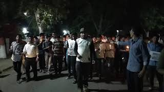 Candle march by btech students on sheedi diwas in gurukul kangri