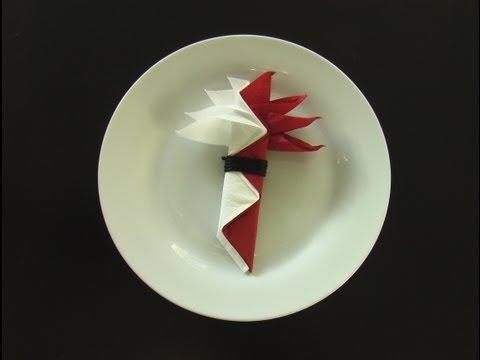pliage serviette papier oiseau du paradis