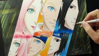 getlinkyoutube.com-Speed Drawing - Sakura / Naruto / Sasuke