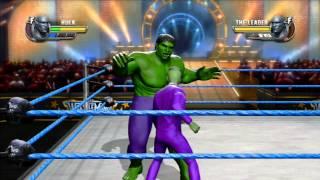 getlinkyoutube.com-WWE All Stars !!! HD HULK  Vs THE LEADER Gameplay By powerbombx
