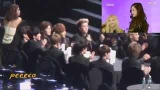 getlinkyoutube.com-140212 EXO REACTION TO SNSD-I Got a boy 3rd Gaon Chart Award
