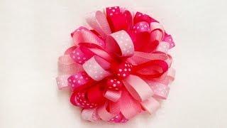 getlinkyoutube.com-How To Make A Loopy Puff Ribbon Hair Bow