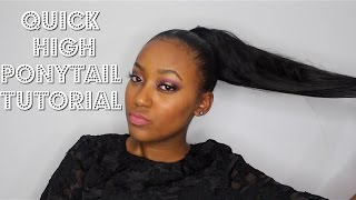 getlinkyoutube.com-High Faux Ponytail Tutorial (Beginner Friendly)