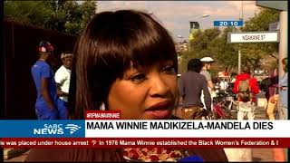 Zindzi Mandela shares experiences with her mother Winnie Mandela