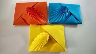 getlinkyoutube.com-Como hacer un sobre de papel sin pegamento ni tijeras || Sobre de origami