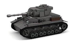 getlinkyoutube.com-Lego WWII Panzer IV Ausf. G Tank Instructions