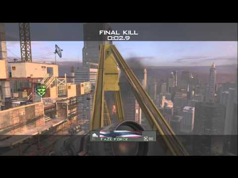 First MW3 Crane Shot Killcam (in Public Match) - by FaZe Force