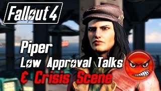 getlinkyoutube.com-Fallout 4 - Piper - All Low Approval Talks & Crisis Scene (Piper Leaves Forever)