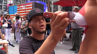 getlinkyoutube.com-NAKED TRUTH About  the Times Square TOPLESS Painted Ladies 8/31/15
