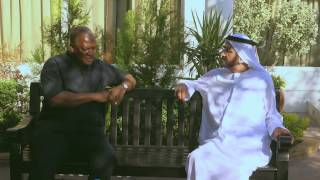 President John Mahama meets the ruler of Dubai