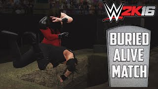WWE 2K16 - Buried Alive Match Gameplay (PS4)