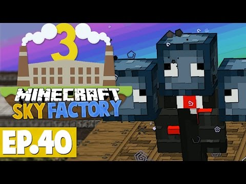 Minecraft Sky Factory 3 - Invisible Squid Wither! #40 [Modded Skyblock]
