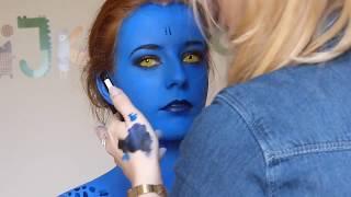getlinkyoutube.com-Mystique work in progress makeup