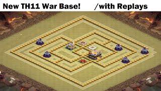 getlinkyoutube.com-New Max Town Hall 11 War Base with 3 Replays!