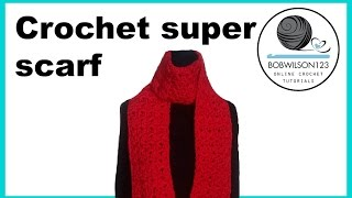 Crochet Cluster V stitch scarf/blanket tutorial