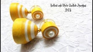 getlinkyoutube.com-How to make paper quilling jhumkas or earring easy method   Earrings Making video