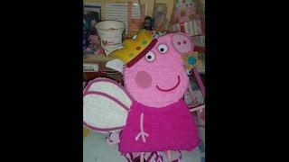 getlinkyoutube.com-Como Hacer Piñata Peppa Pig DIY - how to make a pinata