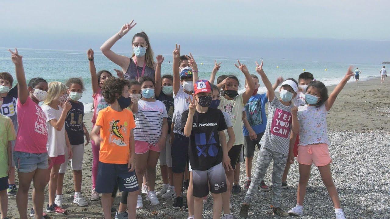 Jornada deportiva en la playa para los alumnos de San Luís