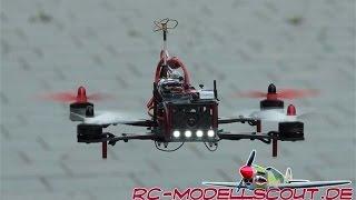 getlinkyoutube.com-Video zum Testbericht des Graupner Alpha Race 250q mit Hott GR-18 Gyroempfänger