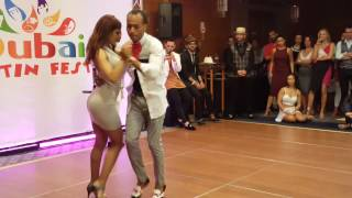 Dubai Latin Fest 2016. Kizomba artists dancing with each other.