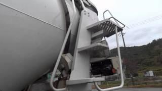getlinkyoutube.com-中古トラック 日産ディーゼル クオン ミキサー車 2デフ 外装