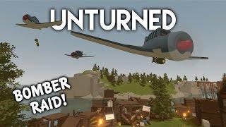 getlinkyoutube.com-Unturned | Bomber Plane Raid! (Roleplay Survival)