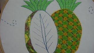 getlinkyoutube.com-Bordado Fantasía Piña Flores