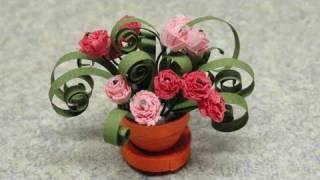 getlinkyoutube.com-Quilled Miniature Plants: Carnations