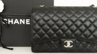 getlinkyoutube.com-DETAILS / REVIEW | CHANEL Classic Double Flap Maxi | Mod Shots