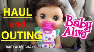 getlinkyoutube.com-Baby Alive HAUL and OUTING with Elsa and Kara! By Baby Alive Channel