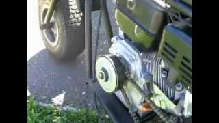 getlinkyoutube.com-Predator 212cc mini bike(governor removed)Burnout!