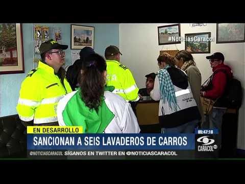 Sancionan a seis lavaderos de carros en Bogotá por mal manejo del agua - 8 de Septiembre de 2014