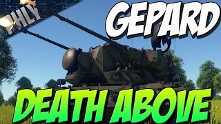 getlinkyoutube.com-NO PHLY ZONE - Gepard SPAA 35mm AutoCANNONS (War Thunder Tanks)