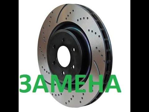 Как поменять тормозные диски с колодками на Citroen C4 ( Ситроен С 4) Замена тормозов на ситрике
