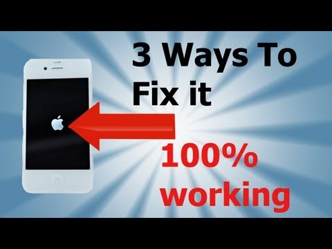 How To Fix Apple Logo Stuck  on iOS 5 & iOS 4