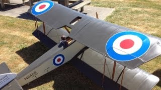 getlinkyoutube.com-Giant Sopwith Pup WWI Warbird Gas Powered RC Plane at Warbirds Over Whatcom with a Crash,