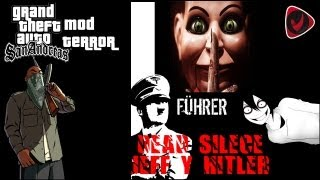 getlinkyoutube.com-GTA SAN ANDREAS | Mod Terror | Cj Vs Hitler, Jeff The Killer y El Titere | + Fail Epico