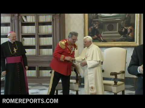Pope meets with Fra' Matthew Festing  Grand Master of the Order of Malta