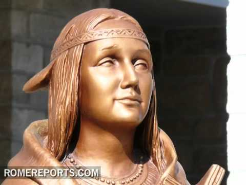 Kateri Tekakwitha  the first Native American woman to become a blessed  soon a saint